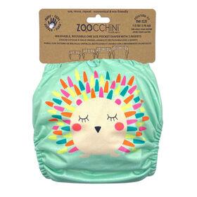 Zoocchini - Cloth Diaper & 2 Inserts - Hedgehog - One Size - 7-35 lbs