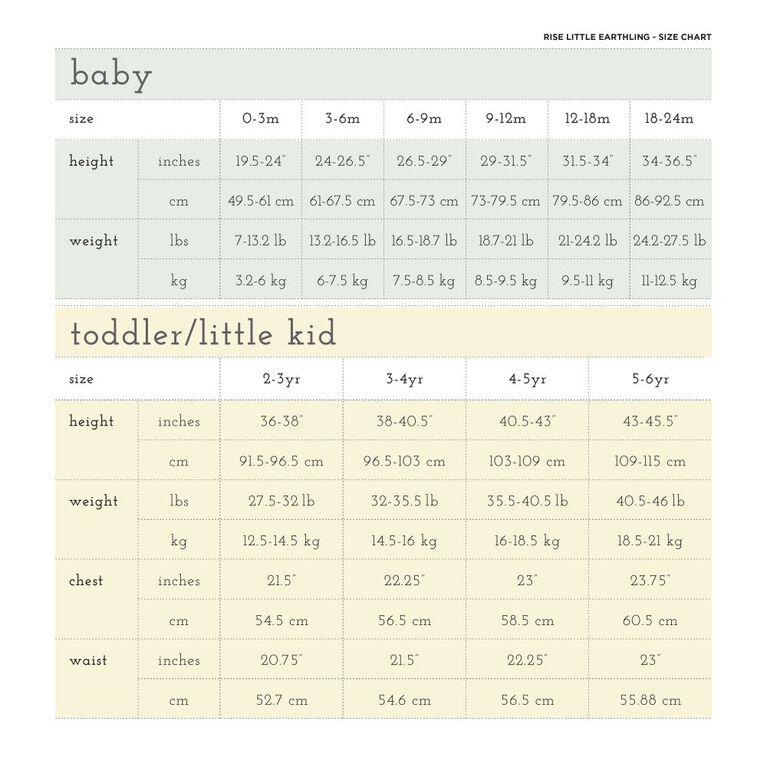 18-24m legging en coton biologique - rayures bambou