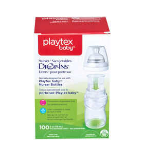 Playtex - BPA Free Drop-Ins Liners, 4oz -100 Count
