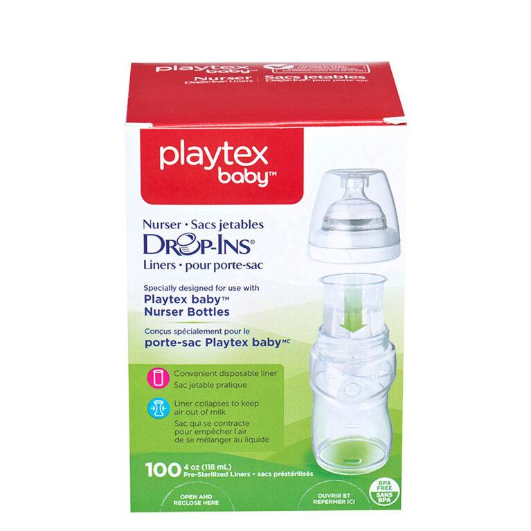 Playtex - BPA Free Drop-Ins Liners, 4oz -100 Count