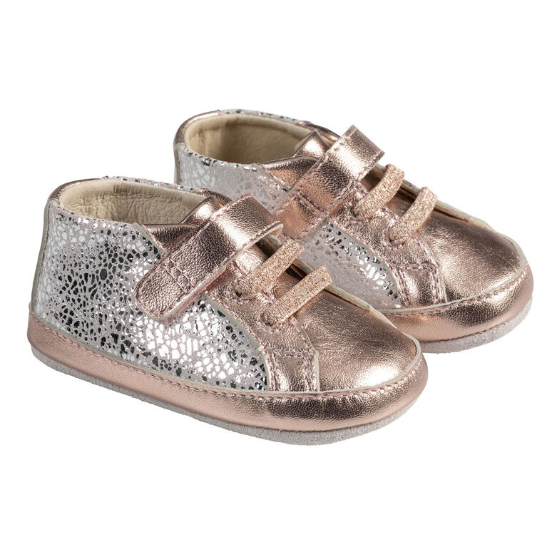 Robeez - FirstKicks Clara Rose Gold 0-3M