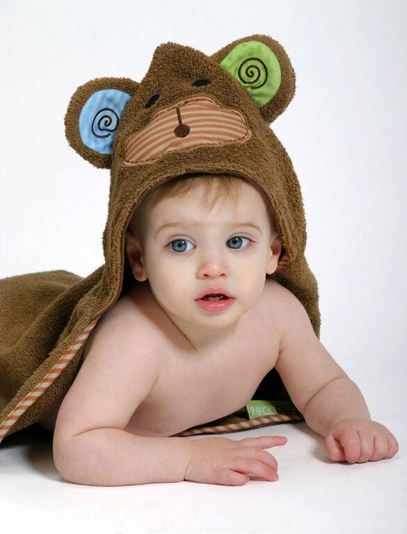 Serviette bébé Zoocchini - Max le singe.