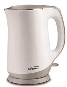 Brentwood Cool Touch 1.7L Stainless Kettle - White