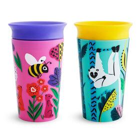 Miracle 360° WildLove Sippy Cup 2 pack - Lemur/Bee