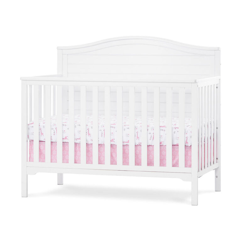 Wilmington Arch Top 4 In 1 Convertible Crib Matte White