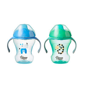 Tommee Tippee Sippee Trainer Cup 8 oz, 2-Pack - Blue/Green