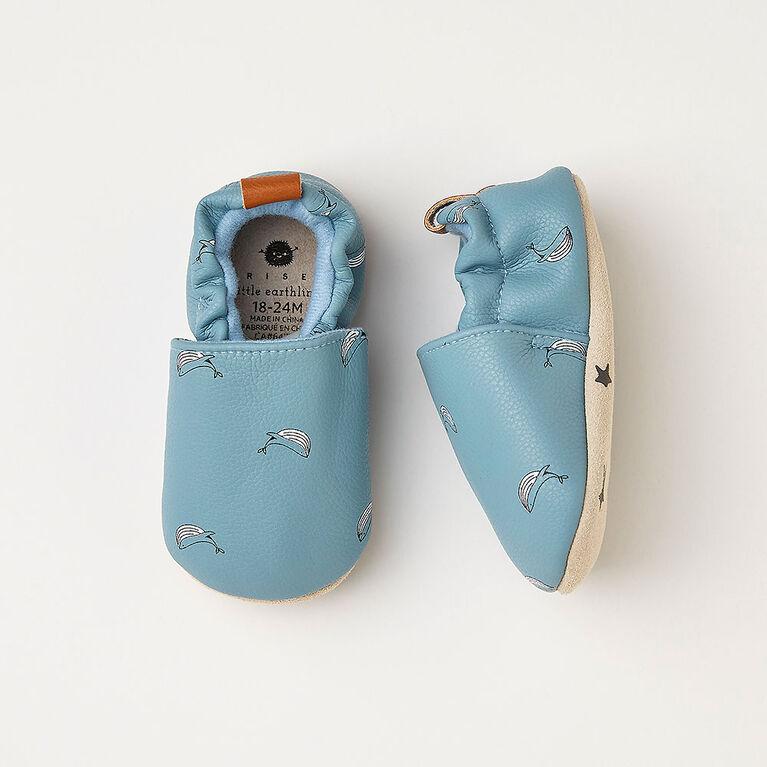 0-3m chaussures pour bébé - bleu pâle