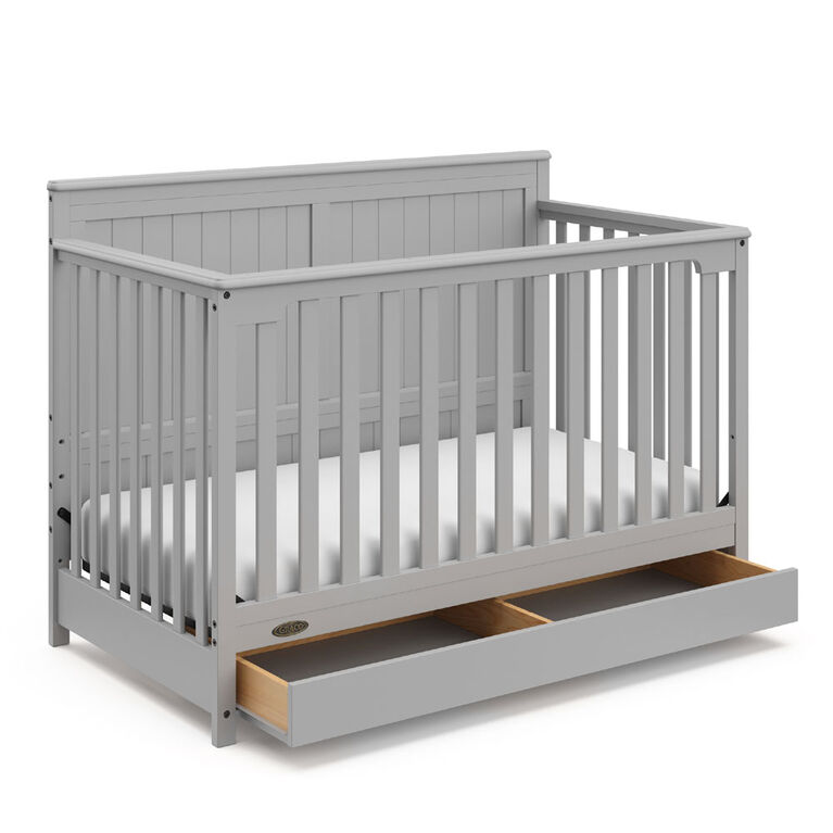 Graco Hadley 4 In 1 Convertible Crib With Drawer Pebble