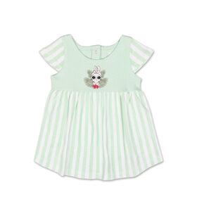 Robe manches courtes à rayures vertes avec motif Bunny de Koala Baby, 3-6 Mois