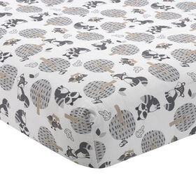 Bedtime Originals - Little Rascals Fitted Crib Sheet - Gray