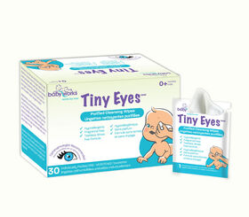 Lingettes nettoyantes purifiées Tiny Eyes  Baby Works  - Emballées individuellement - 30 carats
