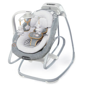 Ingenuity Boutique Collection SmartSize Gliding Swing & Rocker - Bella Teddy