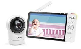 Le moniteur vidéo Wi-Fi intelligent pour bébé avec écran de 7 po et caméra panoramique 1080p HD et inclinaison à 360 degrés, blancRM7764HD de VTech