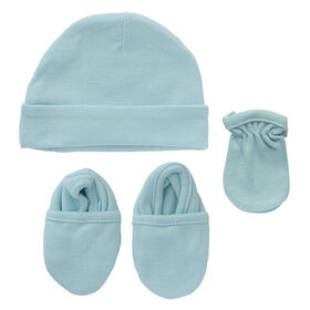 Koala Baby 3-Pack Set - Hat, Mittens, Booties - Blue