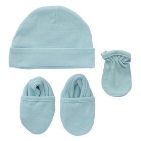 Koala Baby bonnet, mitaines et chaussons - Bleu.