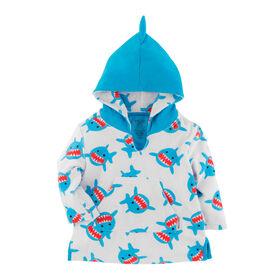 Zoocchini - Baby Swim Coverup - Shark - 0-12m