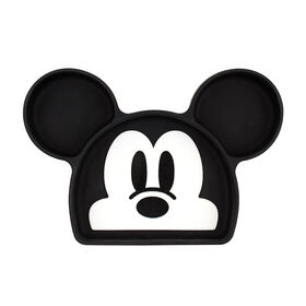 Bumkins Disney Silicone Grip Dish, BPA Free - Mickey Mouse