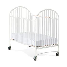 Foundations Pinnacle Full-Size Folding Steel Crib, White