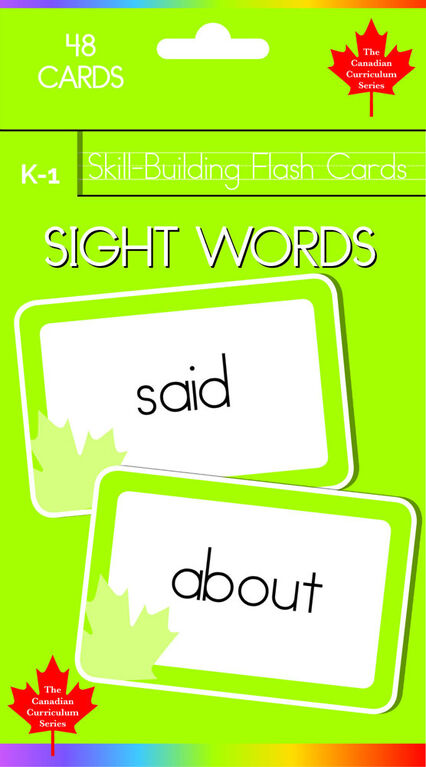 K-1 Skill Building - Sight Words - Édition anglaise