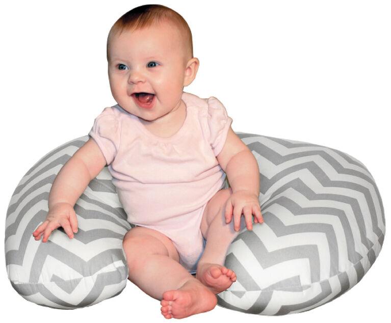 Jolly Jumper Baby Sitter Nursing Cushion - Grey Chevron