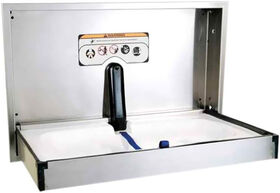 Foundations Stainless Steel Horizontal Recessed Mount Baby Changing Station
