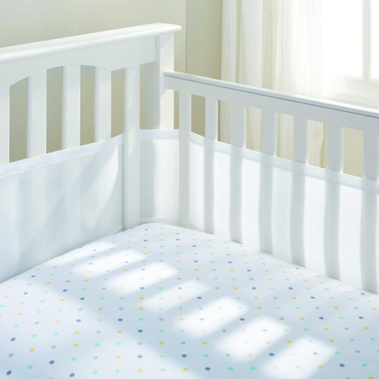 BreathableBaby - Tour de lit perméable à l'air - Blanc.