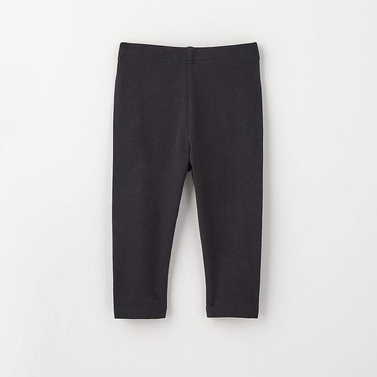 organic play legging, 6-9m - black