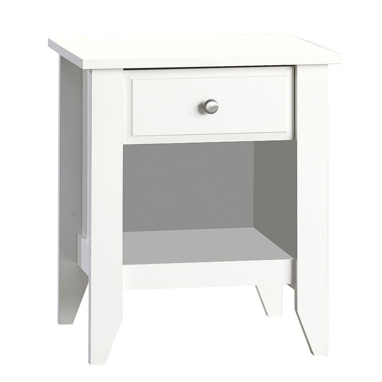 Child Craft night stand, matte white finish