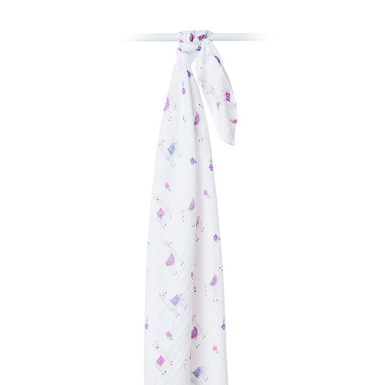 Lulujo - Modern Llama Swaddle Blanket