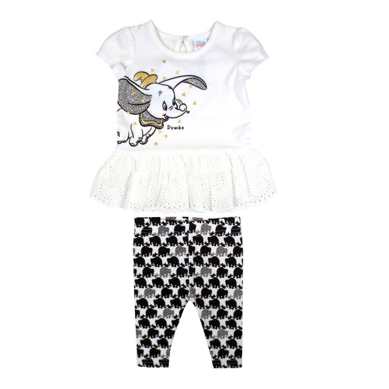 Disney Dumbo 2-Piece Legging set - White, 9 months