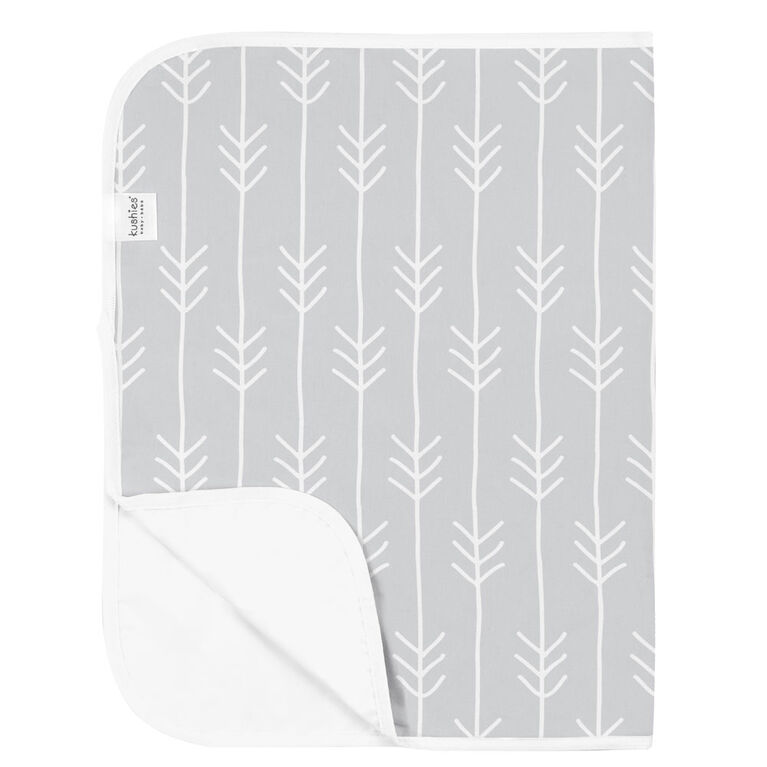 Kushies Portable Changing Pad Liner Flannel Lt. Grey One Direction