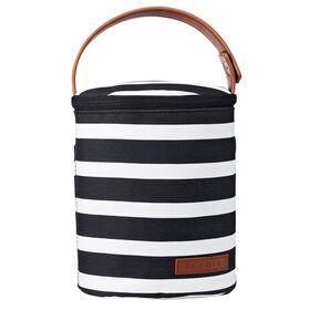 JJ Cole Bottle Cooler Bag - Black & White Stripe