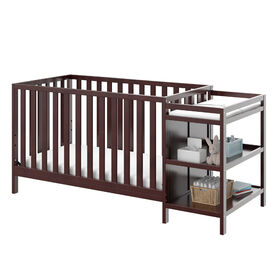 Storkcraft Pacific 4-in-1 Convertible Crib and Changer - Espresso.