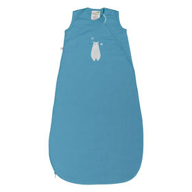 Perlimpinpin 1 TOG Quilted cotton sleep bag - Blue Bear, 0-6 Months
