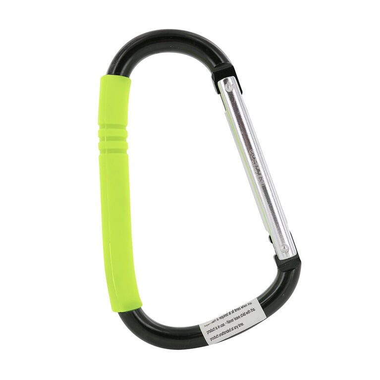 Nuby Handy Hook - Silver/Black Aluminum and Green Silicone
