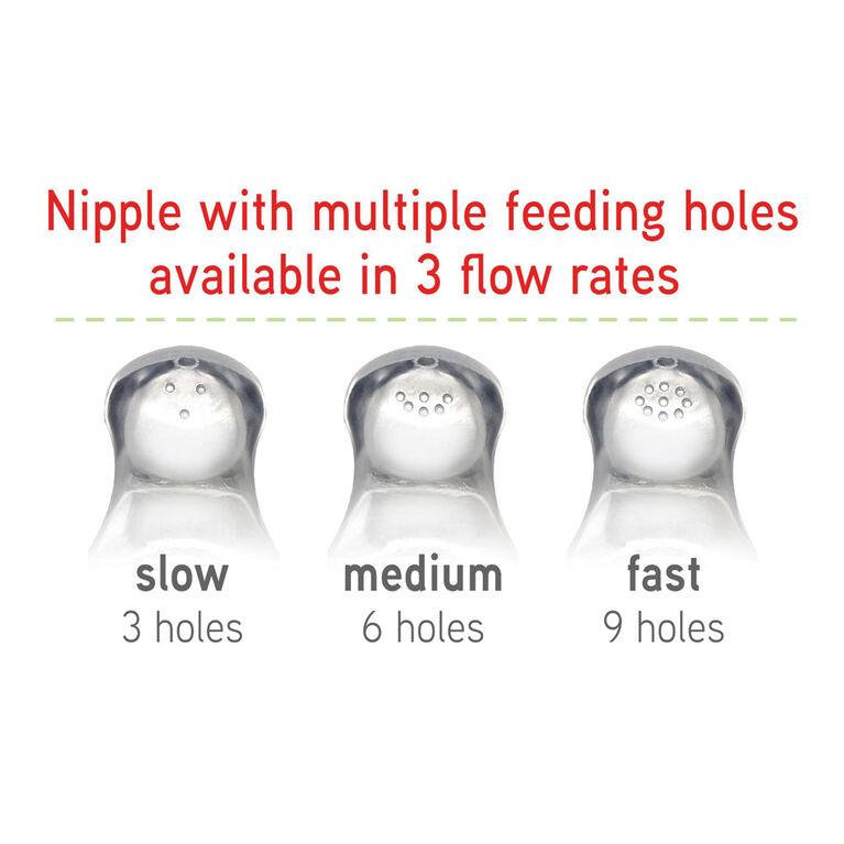 Tétines de biberon à débit moyen NUK Simply Natural, paquet de 2, 1 mois