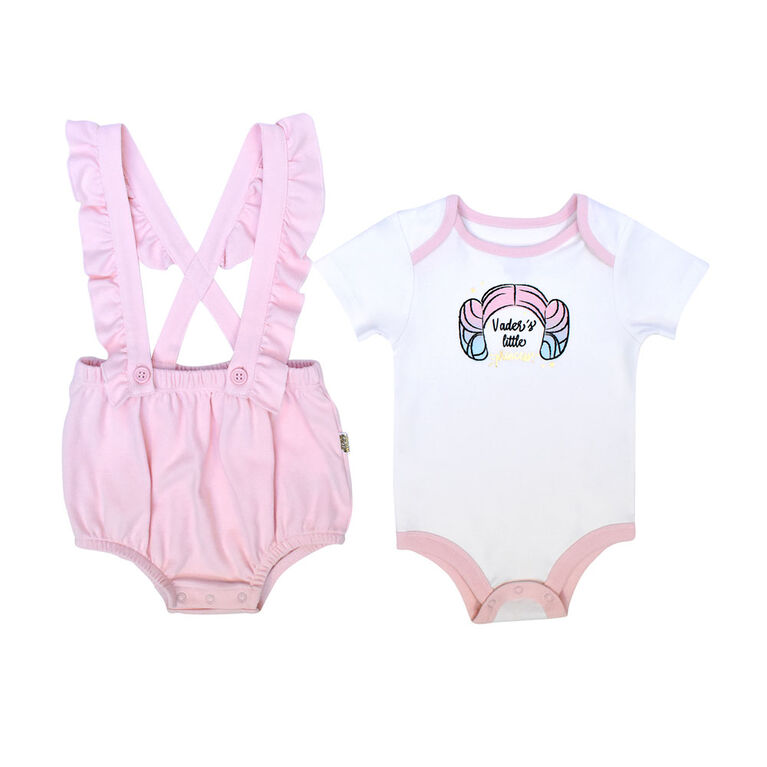 Star Wars 2 piece Romper set - Pink, 3 Months