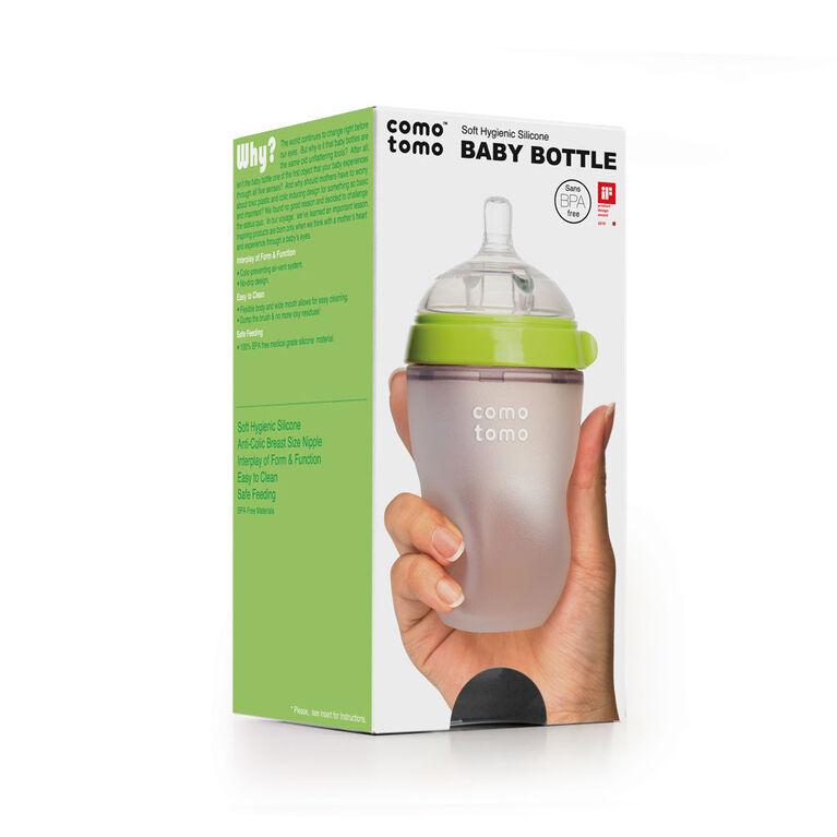 Comotomo - Natural Flow Bottle - 250ML - Green.