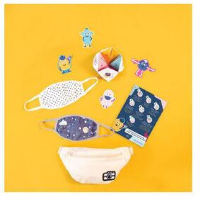 kidcare – Ensemble Masque facial et sac banane – Hipster