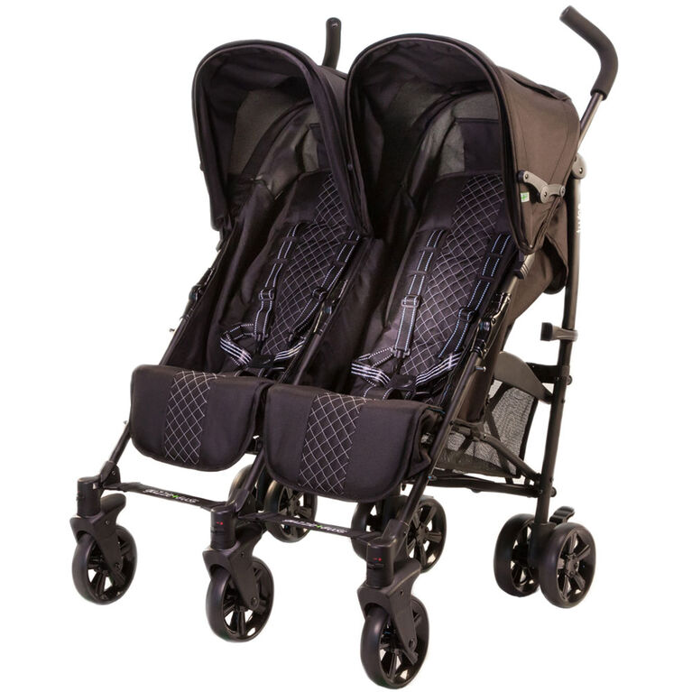 guzzie+Guss Twice Double Umbrella Stroller - Black