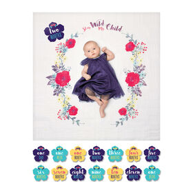 Lulujo - Baby's 1st Year - Stay Wild My Child Milestone Blanket