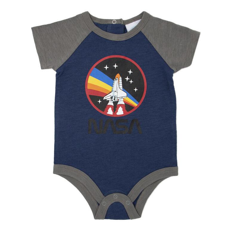 NASA Cache couche en tricot bleu Nouveau-né