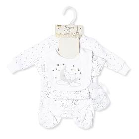 Bonjour Bebe - Bear 5-Piece Velour Gift Set - Newborn