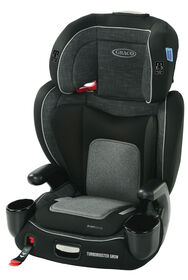 Graco Turbobooster Grow Highback Booster, West Point, featuring RightGuide Seat Belt Trainer