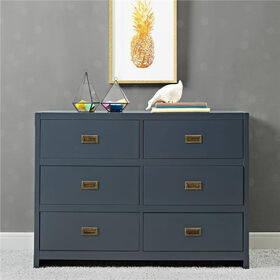 Baby Relax Miles 6-Drawer Dresser - Blue||Baby Relax Miles 6-Drawer Dresser - Blue