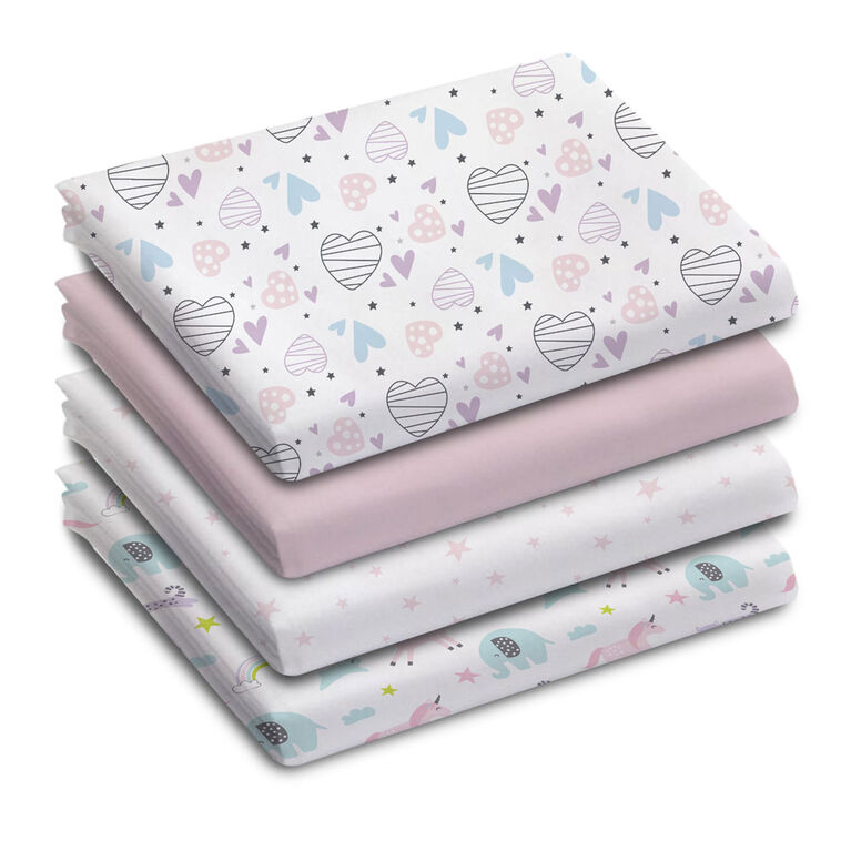 Koala Baby - Receiving Blankets 4 Pk Happy Day