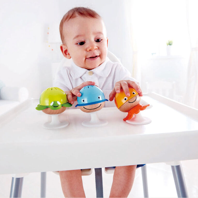 Hape Stay-put Rattle Set - English Edition