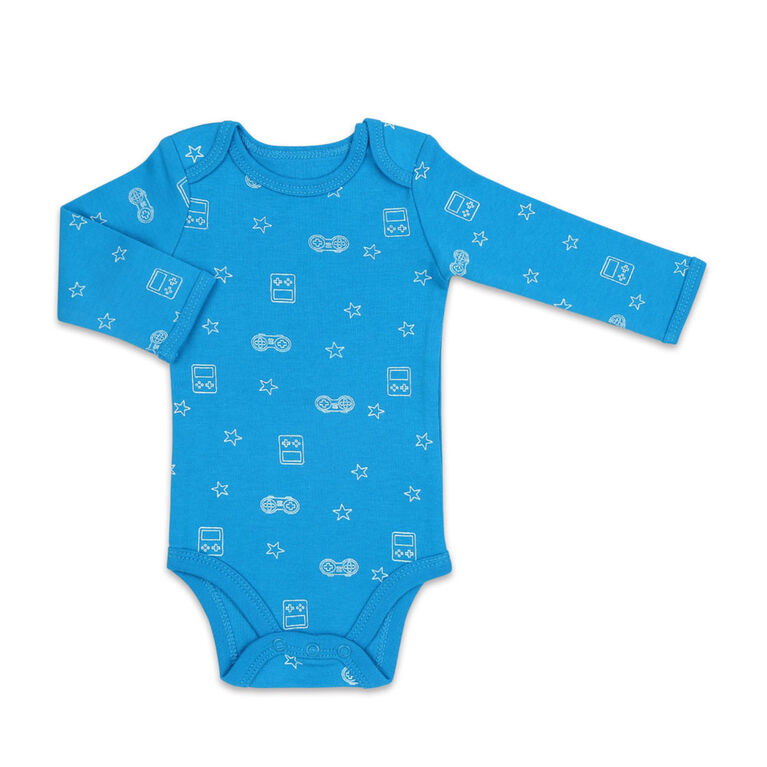 Koala Baby 4Pk Long Sleeve Bodysuit Lets Play, Preemie