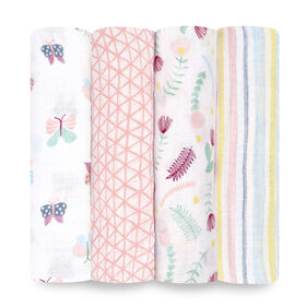 Aden Essentials - Floral Fauna 4-Pack Swaddle