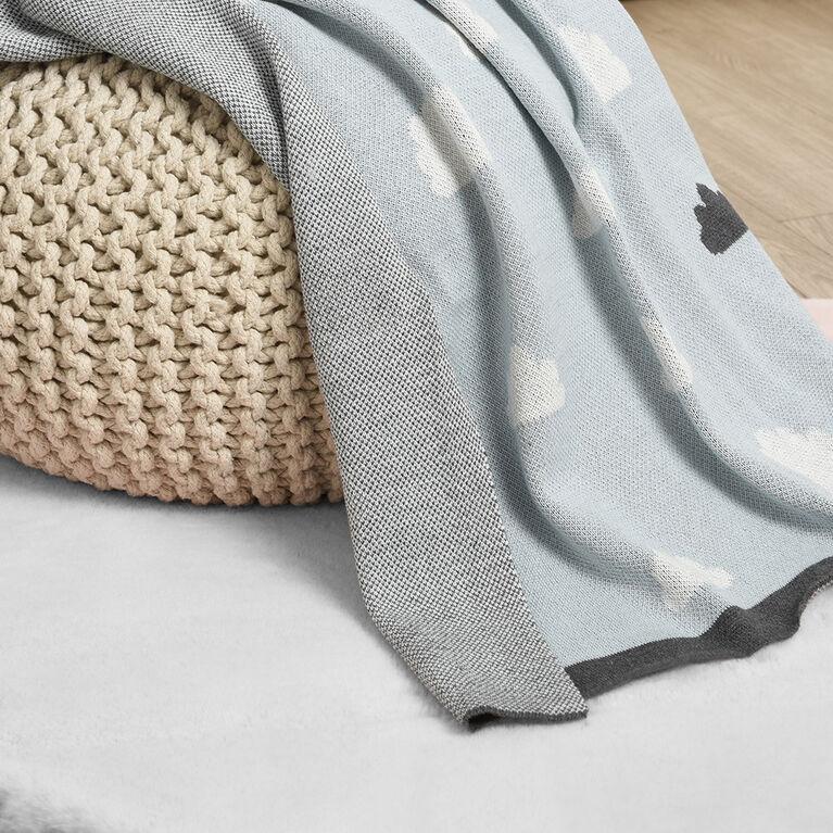 Couverture pour bébé en coton, des nuages